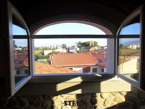 zanzariera per finestra grande, zanzariera funzionale, zanzariera con telaio in metallo