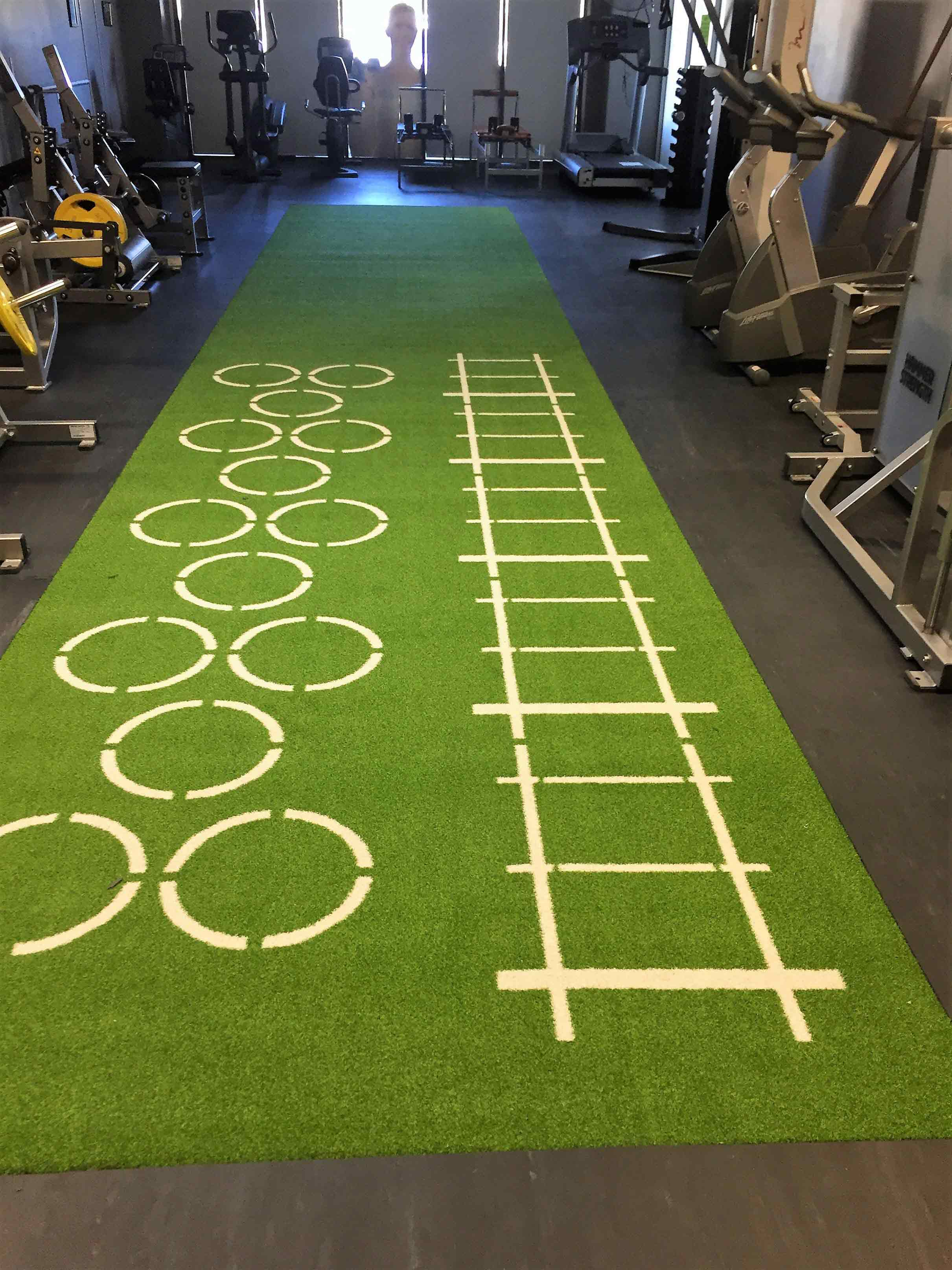 55 Floorz Carpet Installations Gold Coast Green Carpet on Gym
