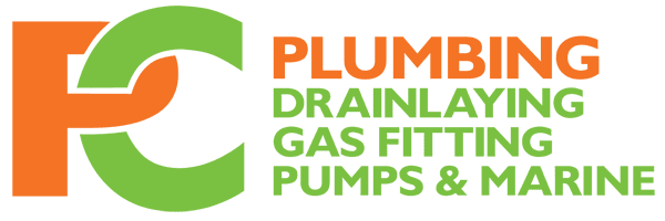 Plumbing drain laying gas fitting pumps and marine logo