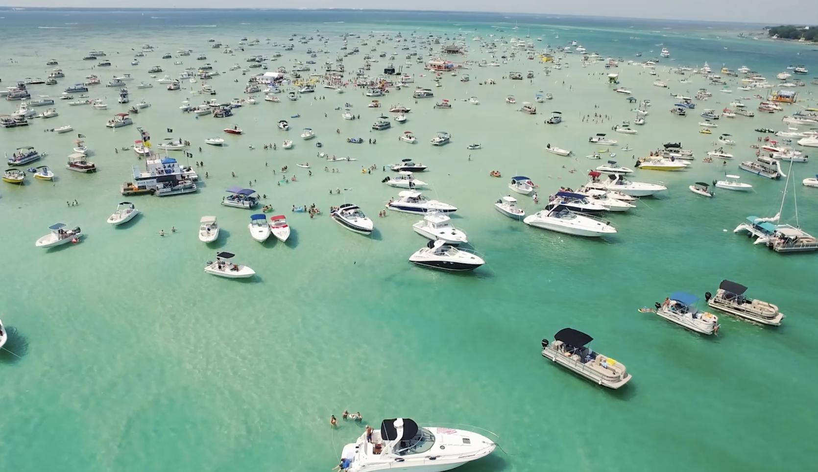 Crab Island Fun Waverunners Pontoon Boats Parasailing In