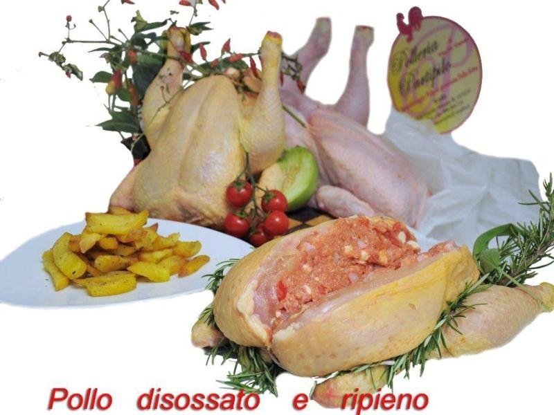 pollo disossato e ripieno