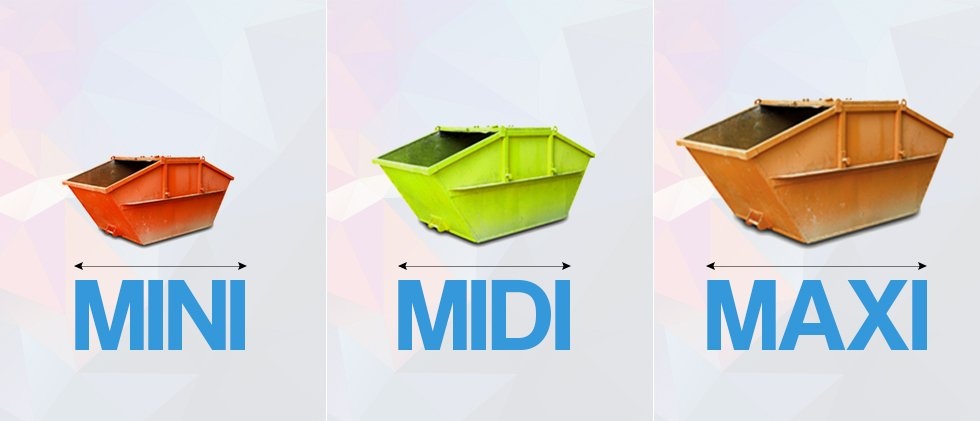 Wide range of skips