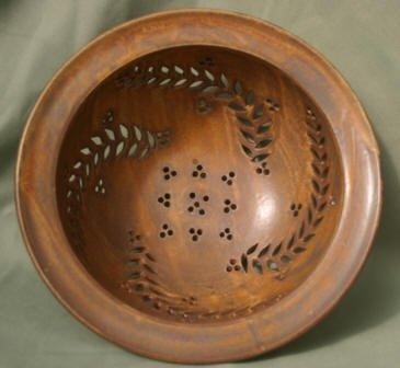 Large Colander, fern pattern