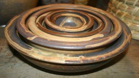 Nesting Flat Rimmed Serving Bowls