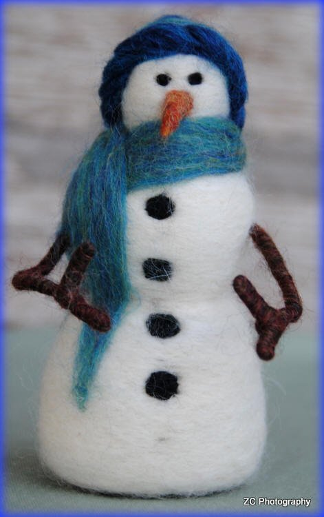 Needlefelted Snowman Class Monches Farm