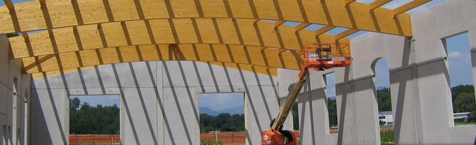 coperture in legno lamellare - Corte Franca - Brescia