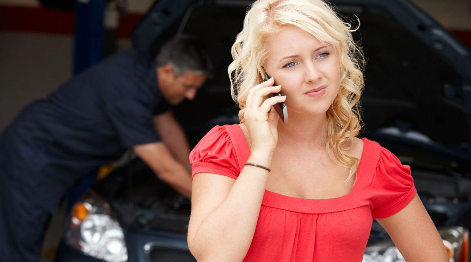Woman visits our expert car repairs in Christchurch