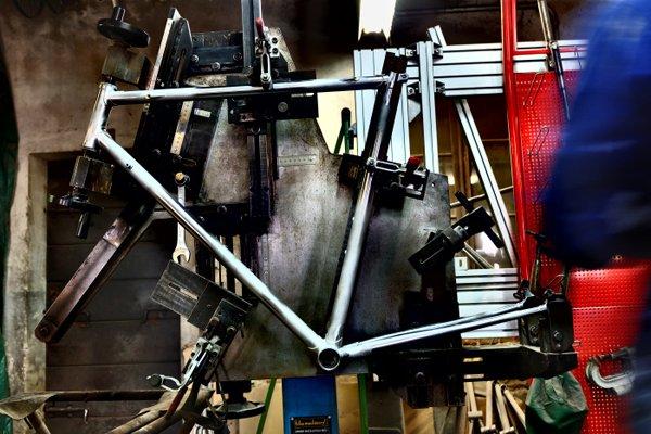 telaio di una Bicicletta artigianale
