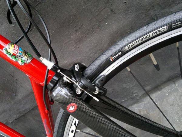 dettaglio del freno di una Biciclette artigianali su misura