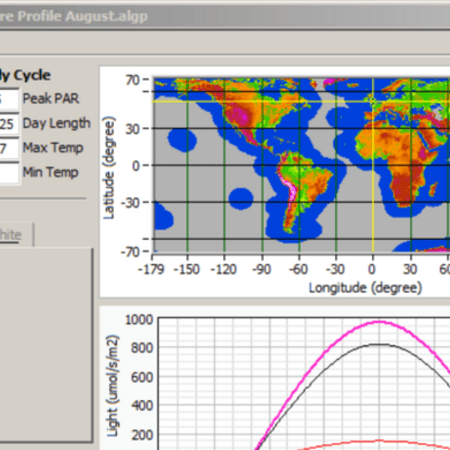 Algem software profile editor screen shot