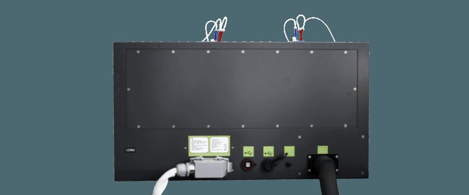 Rear view - Algae photobioreactor