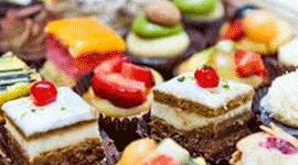 ingredienti dolci, tortini, pasticcini artigianali