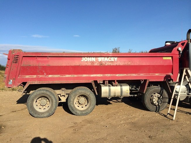 Lorry in need of shot blasting