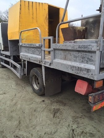 Works lorry shot blasted