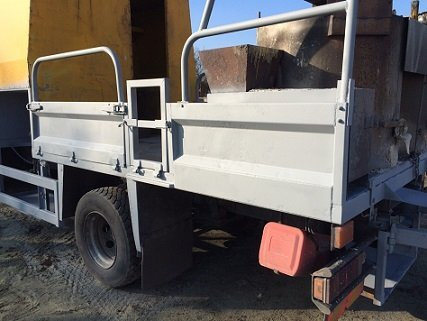 Works lorry shot blasted and coated