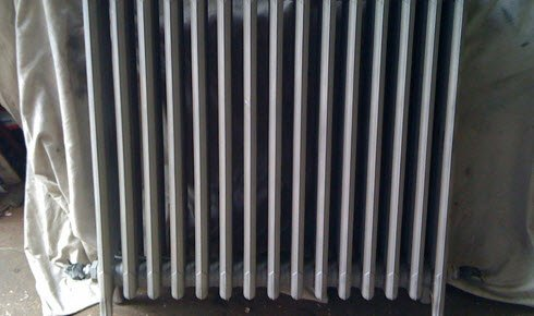 Shot blasted radiator (after picture)