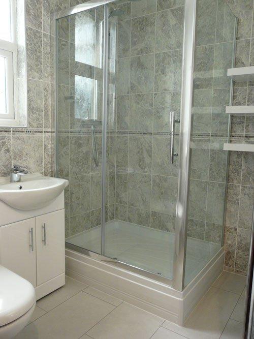 wet area in the bathroom