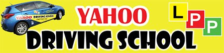 yahoo driving school business logo