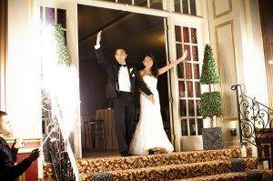 Koko and AJ Testimonial sparkler wedding intro