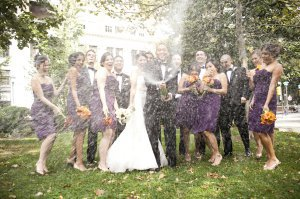 Wedding Party Champagne home page slideshow