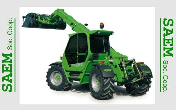 una scavatrice verde