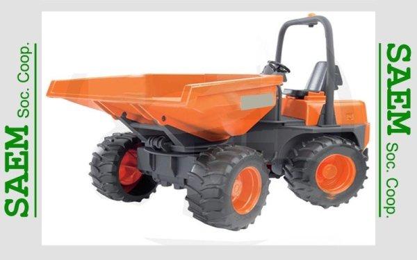 un mezzo da lavoro arancione