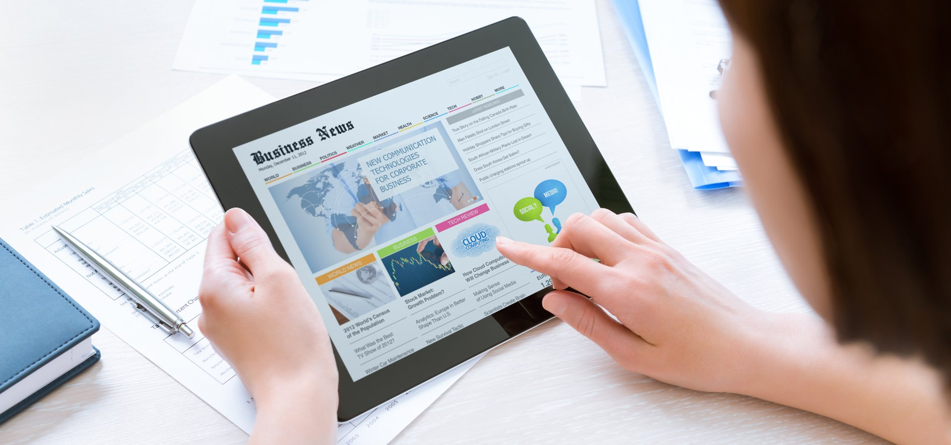 tablet user
