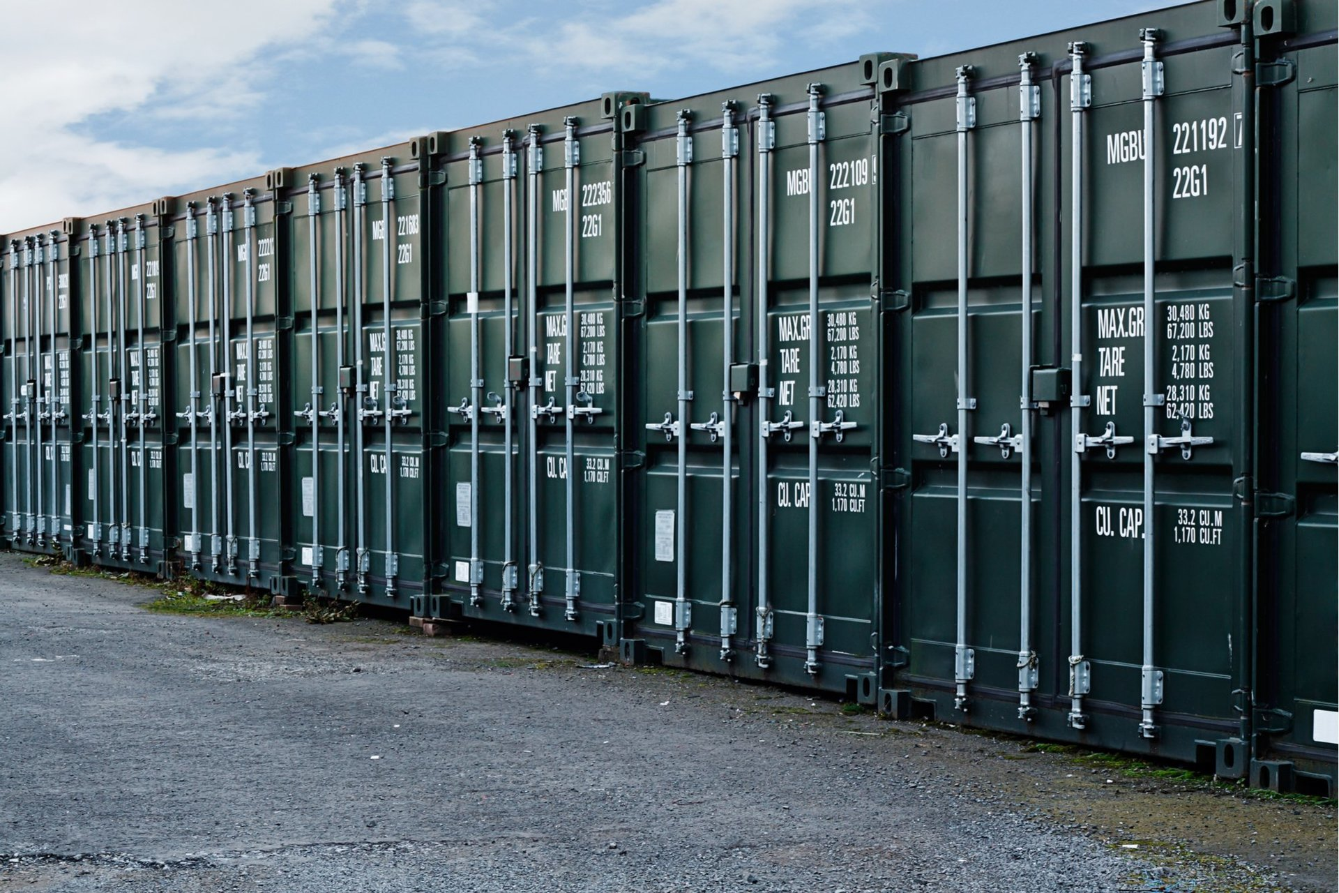 Storage container yard