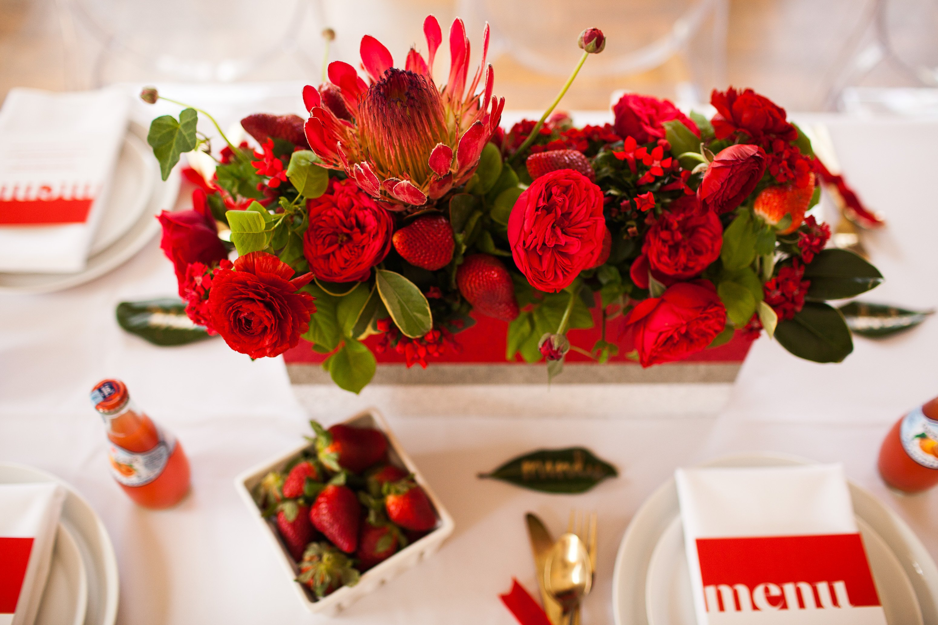 event flower center pieces for tables