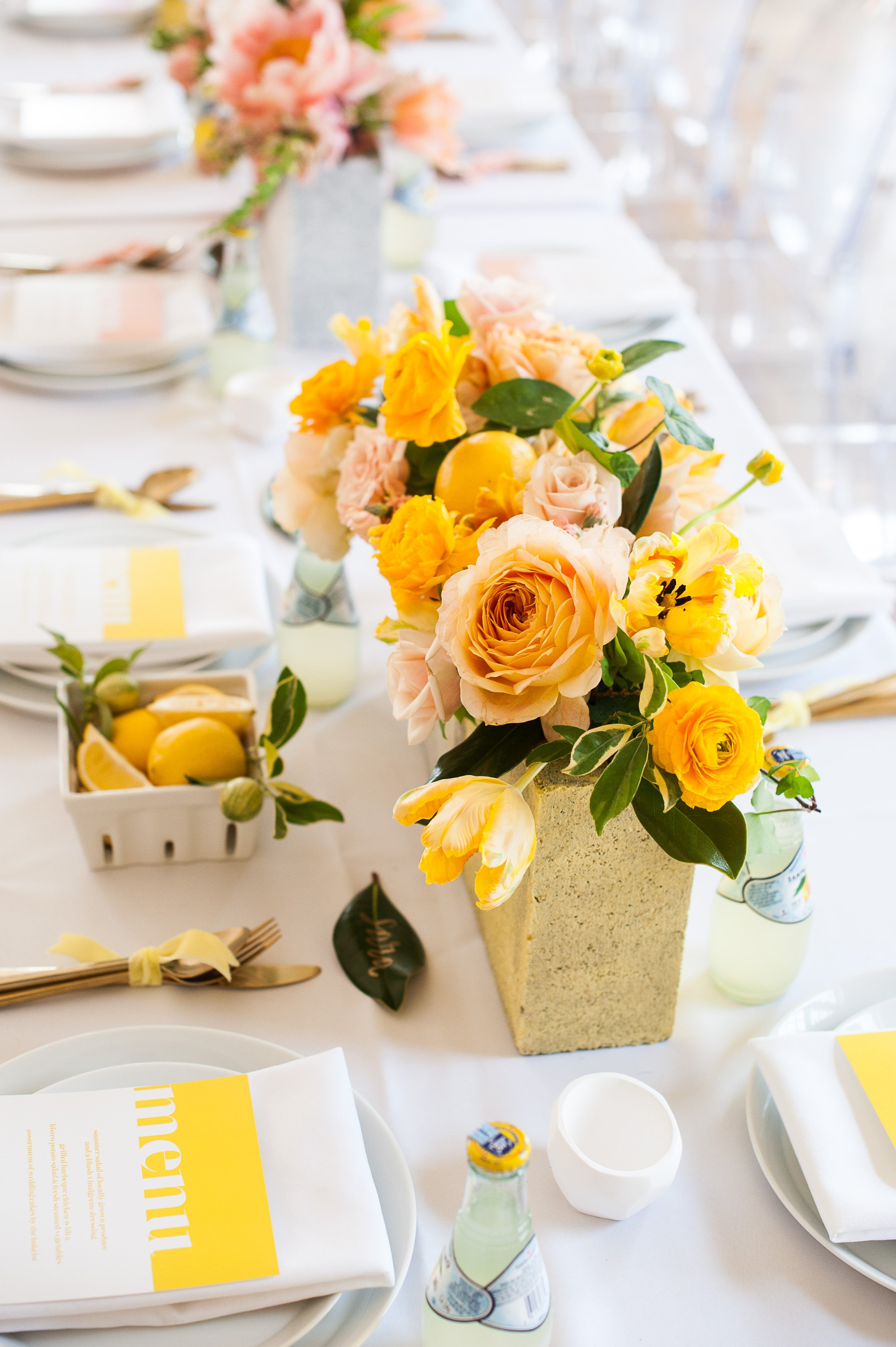 floral table center pieces