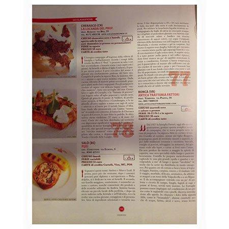 un articolo di una rivista sul cibo