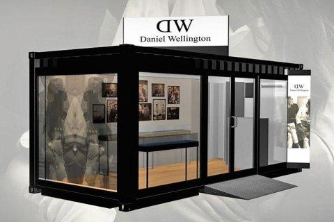 allestimento negozio temporary daniel wellington