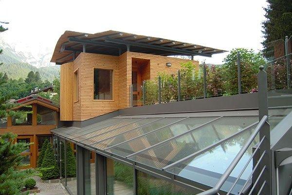 tetto alluminio vetro