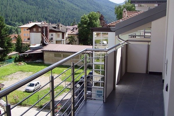 balcone acciaio