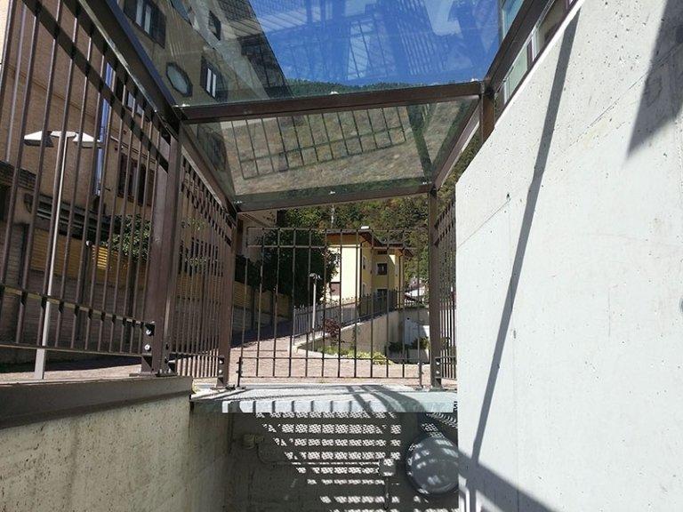 tettoia vetro