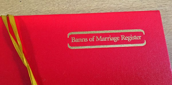 Banns of Marriage Register