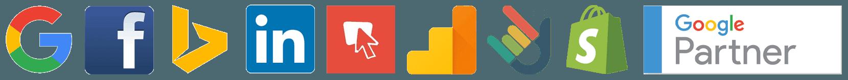 Partners & Advertising Networks - Google, Facebook, Bing, LinkedIn, Banner Snack, Analytics, DashThis