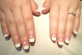 stylish fingernails