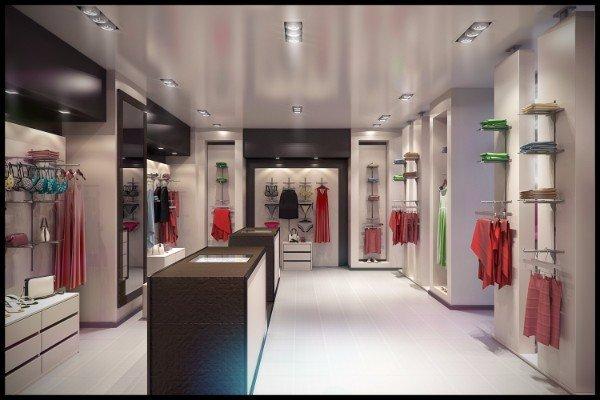 interno di un negozio di alta moda