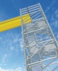 noleggio torre scala a gradini