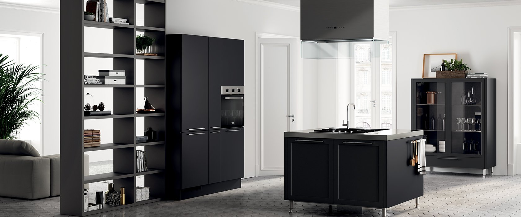 cucina Scavolini nera