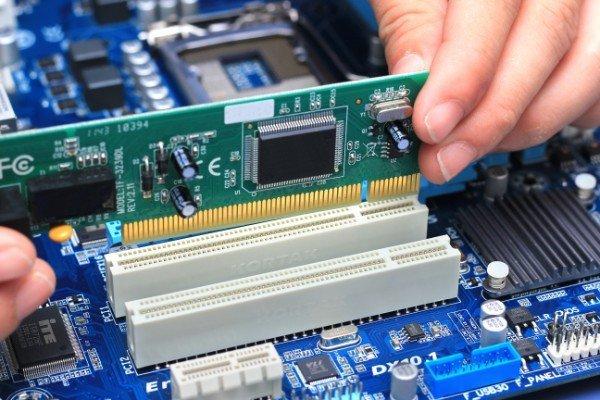 componenti elettrici in un personal computer