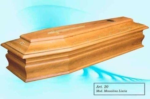 modello di bara in legno
