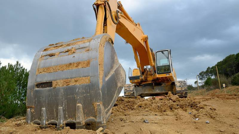 Land clearing for site preparation in College Station, TX