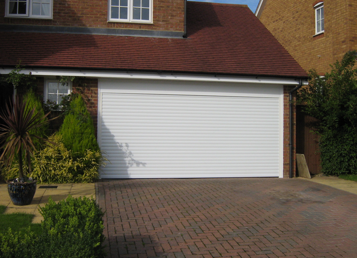 White colour garage door installed by expert