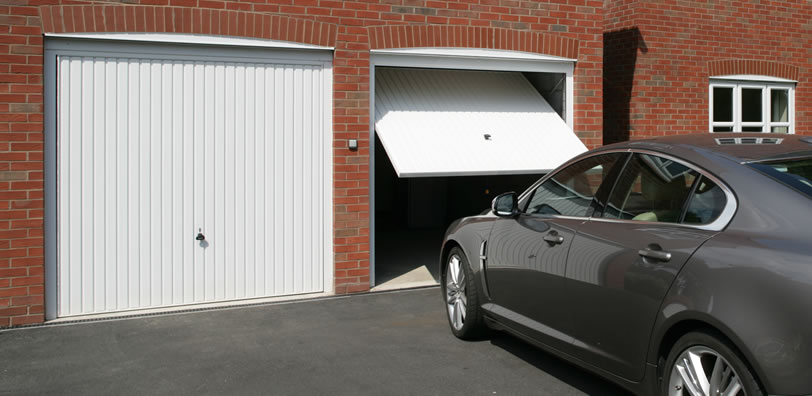 White color garage door installed in sussex