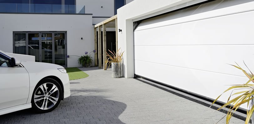 Automated garage door installed by experts