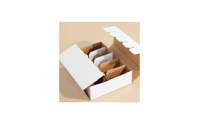 scatola richiudibile a dieci scomparti