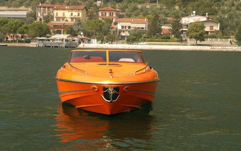 motoscafo linetti arancione