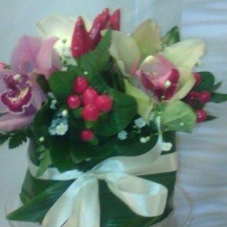 composizione con orchidea